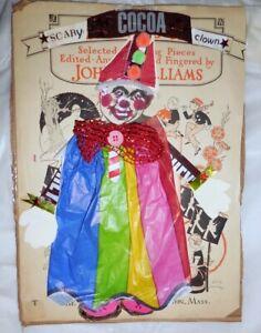 Artisan Made Folk Art Creepy Clown Collage Art OOAK Ready To Hang