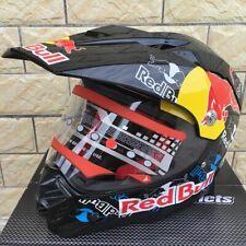 Red Bull Dual Sport Motorcycle Motocross MX ATV Dirt Bike Full Face Helmet 2020