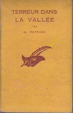 C1 Patrick QUENTIN - TERREUR DANS LA VALLEE Masque Relie 1936 Grindle Nightmare