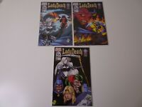 Lady Death #10, 11, 12 The Covenant Chaos Comics Lot of 3