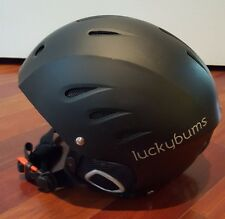 Lucky Bums Adult Ski Snowboard Helmet SMALL Matte Black Snow Sports EUC