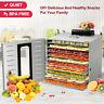 Commercial 10 Tray Stainless Steel Food Dehydrator 55L Fruit Meat Jerky Dryer US