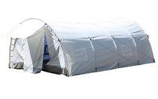 Mil-Tec UN Zelt Dome m. Innenzelt Tunnelzelt Gruppenzelt Großzelt Weiß 5,5x3,45m