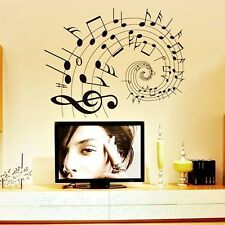 SPARTITO Spirale Murale Nuovo Camera Wall Art Stickers Vinyl Decal arredamento casa fai da te