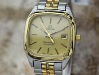 Omega Seamaster Quartz Ladies 1980 Gold Plated  Stainless Steel Swiss Watch CC23