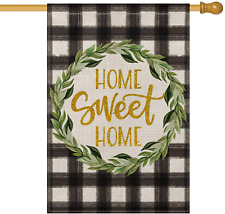 Avoin Watercolor Buffalo Check Plaid House Flag Vertical Double Sided, Laurel Wr
