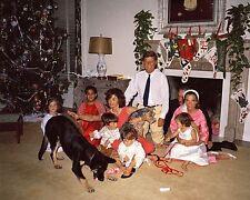 President John F. Kennedy and family Christmas Day 1962 JFK - New 8x10 Photo