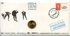 ENVELOPPE NUMISMATIQUE MONNAIE DE PARIS JEUX OLYMPIQUES ALBERTVILLE 1992