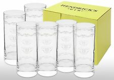Hendricks Gin Hi-Ball Tall Glass New X 6 Boxed
