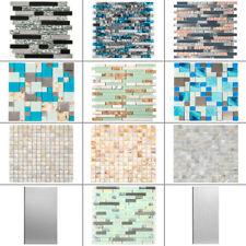 Glass Backsplash Tile Mosaic Tile Peel&Stick Wall Tile for Kitchen Bathroom Deco