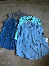 MACYS STYLE & CO. LYOCELL s/s blouse--Petite XL--Choose Color--NEW WITH TAGS!