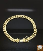 Men's Real 14K Yellow Gold Miami Cuban Bracelet 8.5 Inch 8mm