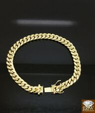 Men's Real 14K Yellow Gold Miami Cuban Bracelet 8Inch 8 mm Rope,Link,Franco.
