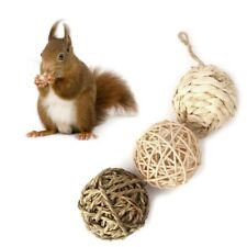 Willow Branch Ball Pet Nature Chew Toy for Small Animals Hamsters Rabbits Parrot