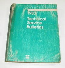 1983 Chrysler Dodge Pllymouth Dealer Technical Service Bulletins USED