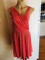 Ladies GAP Dress Red & White Stripe Size Small 8-10 Summer Cross Over