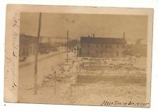 RPPC SPARTANSBURG PA After the 1905 Fire! Crawford County Real Photo Postcard