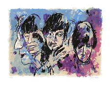 "Original Farbsiebdruck Armin Mueller - Stahl ""The Beatles"" handsigniert NEU"