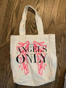 VICTORIAS SECRET CANVAS TOTE BAG RARE Hard to Find Angels Only Beach Market