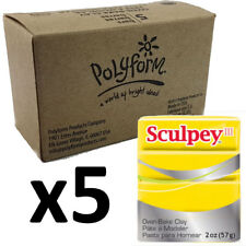Sculpey Polymer Clay - YELLOW - Box of 5 x 57g - Just $3.30 per Block