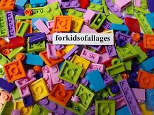 200 Lego Bricks Plates Tiles Friends Girl Colors Pink Purple Azure Lime Orange+