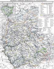 173 Jahre alte Landkarte HESSEN NASSAU Wiesbaden Idstein Usingen Meisenheim 1844