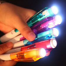 Gel Ink Pen with LED Flashlight Students School Office Stationery Writing Tool