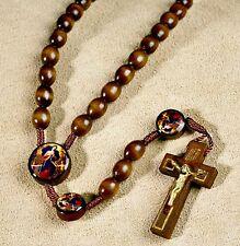 Mary Our Lady Undoer (Untier) of Knots Wooden Rosary NEW Catholic Faith