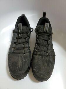 Reebok RB4310 Work Shoes Steel Toe Sneaker Black/Grey Knit Men Sz 11M