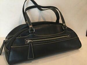 Kate Landry Black Half Moon Shape Hand Bag