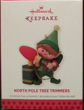 2013 HALLMARK - NORTH POLE TREE TRIMMERS - 1ST IN THE SERIES - MINT IN BOX