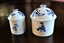 2 French 18th c.Covered Pommade Pots (1 Mennecy c.1760,1 Bourge-de-Reine c.1785)
