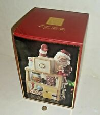Lenox For the Holidays Holiday Village Musical Candy Box Santa cookie Never Used