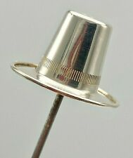 Antique Hatpin Wonderful Women's Welsh Sterling Silver Hat by C. T. Burrows.