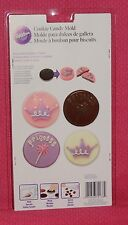 Princess Cookie/Candy Chocolate Mold,Wilton,Clear Plastic,2115-2133,Crown