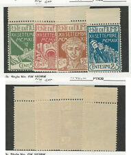 Fiume (Italy), Postage Stamp, #100-103 Mint NH Set, 1920