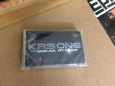 KRS ONE THE SNEAK ATTACK FACTORY SEALED CASSETTE  ALBUM