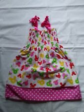 Toddler Shirred Bodice Size 2T Sundress Mickey Minnie Mouse Summer Fruit