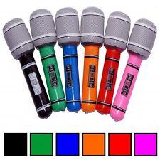 12x Aufblasbares Mikrofon Mikrofone Mikro Mikrophon Microphone Luft Micro 100 cm