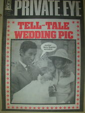 PRIVATE EYE MAGAZINE No 405 JUNE 24 1977 TELL-TALE WEDDING PIC PRINCE CHARLES