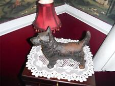 "CAST IRON SCOTTIE DOG DOOR STOP VNTG. APPRO. 11.5""L X 9"" H weighing 9 lbs. 8 oz."