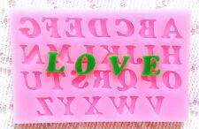 Silicone Alphabet Letter Trays Chocolate Mold Cake Fondant Decorating Tools New