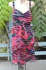 AUTOGRAPH SUMMER Dress Black/Multi Colour Tiered Layers. Size 20. NEW RRP$129.