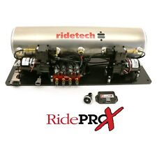 RIDE TECH 5 GALLON AIRPOD WITH RIDEPRO X CONTROL SYSTEM MOUNTED ON PLATFORM