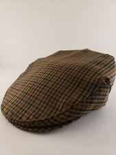 Authentic Scottish Flat Cap Wool Plaid By Lochcarron of Scotland