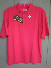 NEW SOLID PINK UNDER ARMOUR POLO GOLF SHIRT SMALL LOOSE FIT UPF 30+ HEAT GEAR