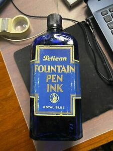 Antique and Rare  INK Pelikan Fountain Pen Pen Royal Blue 1/1 I think a liter