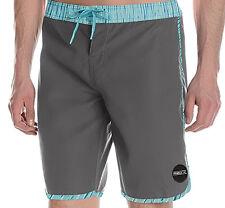 E786 • O'Neill Santa Cruz Scallop Board Shorts • NWT Mens 34 Steel Gray • #27315