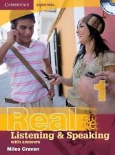 Real Listening and Speaking with Answers Bk. 1 by Miles Craven (2008, CD /...