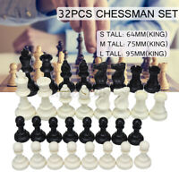 Traditional Chess/32 Pcs Game Chess Carved King Knight Set Toy Christmas  #!